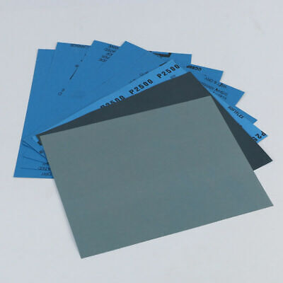 2/10Pcs Mixed Wet and Dry Waterproof Sandpaper 150-8000 Grit Sheet Assorted Wood