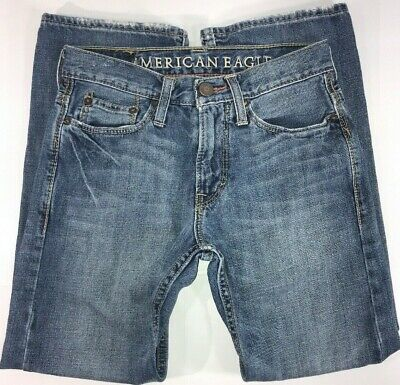 American Eagle Relaxed Fit Dark Blue Denim Jeans Size 26/28 Men's Youth Boys