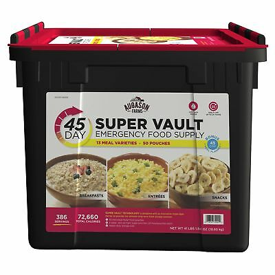 45-Day Super Food Vault Storage Emergency Supply Bucket Rations Kit Survival mre