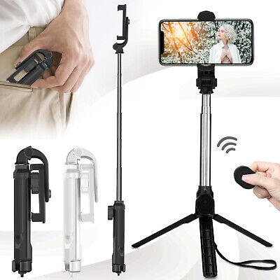 Universal Extendable Remote Selfie Stick Tripod Mount For iPhone 11 Pro Max XR X