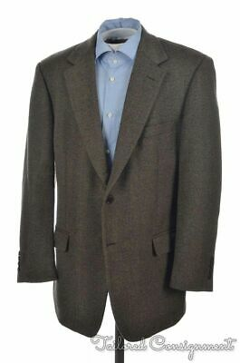 BROOKS BROTHERS Brown 100% Lambswool Tweed Mens Blazer Sport Coat Jacket - 43 R