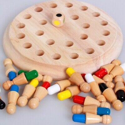 Kids Wooden Memory Match Stick Chess Game Educational Toy Brain Training Gifts@X