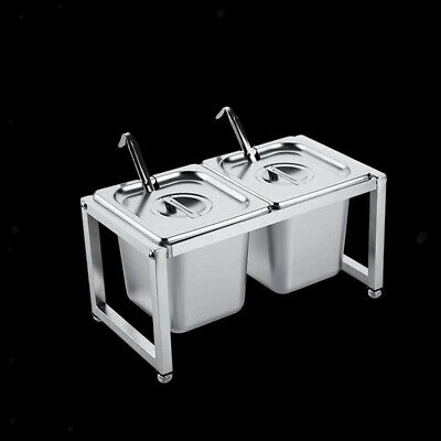 """Anti Jam Steam Table Pan and Rack Holder 6"""" Deep for Restaurant Cafeteria"""