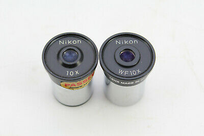 Vintage 2 - Nikon Objective Microscope Lenses 10X and WF10X Japan