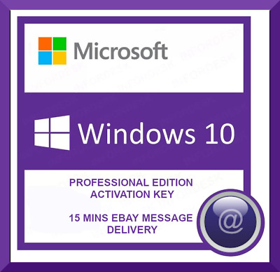 Microsoft Windows 10 Pro Activation Key Lifetime Activation Code 32/64Bit