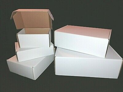 White Shipping Cardboard Boxes, Postal Mailing Small Parcel, 2.5 Mm Cardboard