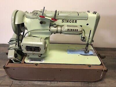 Vintage Singer 319W Sewing Machine With Case Tested Services