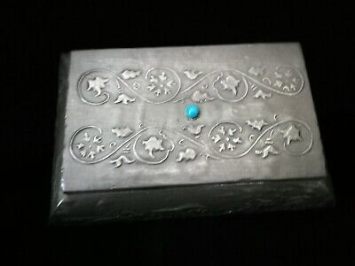 Lovely Original Arts And Crafts , Pewter On Wood Box