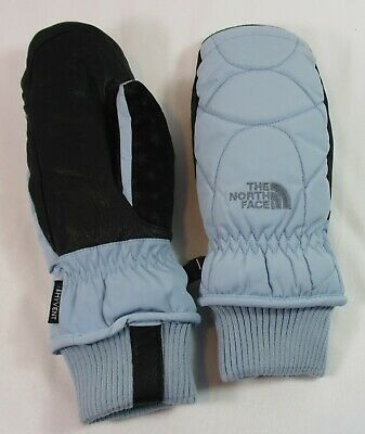The North Face Hyvent Powder Blue Mittens   Women Small   Leather + Poly   OOP