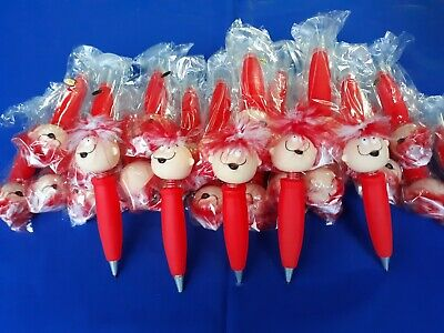 """Set of 2 /""""Happy Eddie/"""" Bobble Head Fat Ballpoint pen with Rubber Suction Base"""