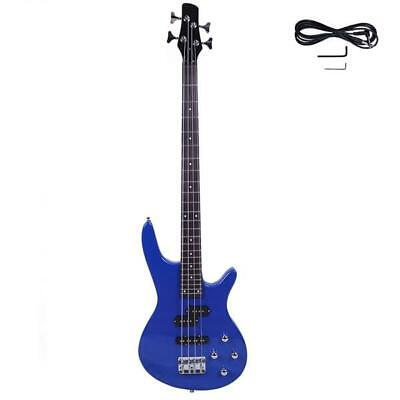Exquisite Stylish IB Bass with Power Line and Wrench Tool Blue Basswood US Stock