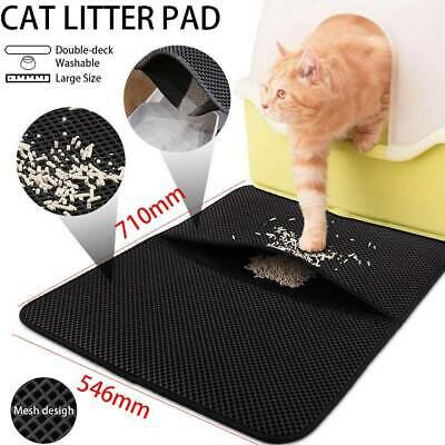 Lagrge Double Layer Cat Litter Mat Trapper Waterproof Foldable Pad Pet Rug