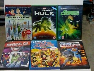 Huge DC and Marvel Animated Movies DVD Joblot