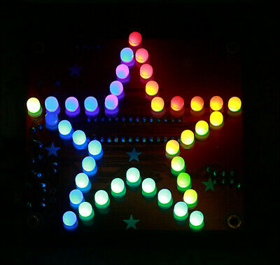 Five-Pointed Star LED Music Flashing Light DIY Kit Soldering Skill Training Kit
