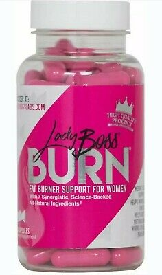 LadyBoss Burn Premium Fat Burning Pills Powered by Science Metabolism Support