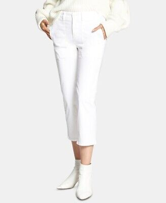 Sanctuary 169216 Womens Peace Mid Rise Crop Chino Casual Pants White Size 32