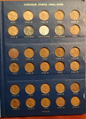 Complete 1941-58 Lincoln Wheat Cent Set, Inc 1943 Steel Starter Collection