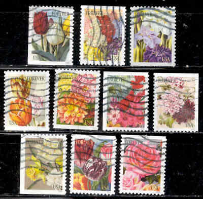 Botanical Art Flowers # 5042-51 US 49 Cent Stamps 2016 Lot Used