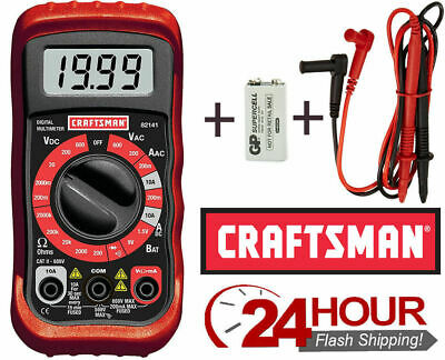 Craftsman Digital Multimeter 8 Function 34-82141 Electrical Volt Test Meter