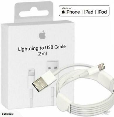 5X PACK 2M 6FT GENUINE OEM Apple Lightning USB Cable Charger iPhone X 8 7 6 6S
