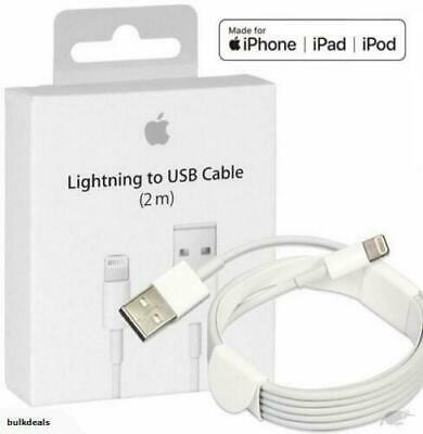 2X PACK 2M 6FT GENUINE OEM Apple Lightning USB Cable Charger iPhone X 8 7 6 6S