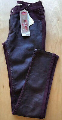 Levi's 535 Super Skinny Womens Purple Jeans Size W24 L30