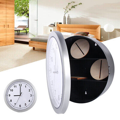 Secret Wall Clock Home Safe Valuables Money Box Stash Cash Jewellery Gold XY
