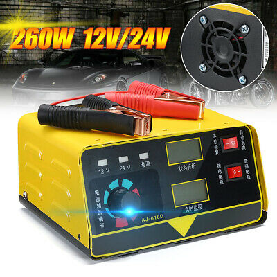 260W 12/24V Car Battery Charger Acid Pulse Repair Auto Intelligent Lead Tool