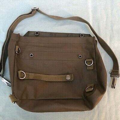 Vintage Army Military Bag ST 76 Satchel Green Waterproof Shoulder Strap Germany