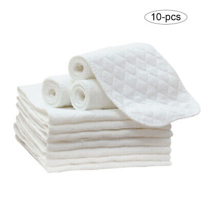 10Pc Multi-layer Ecological Diapers Newborn Baby Diapering Cloth Cotton Washable