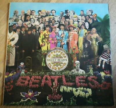 Beatles LP Sgt Peppers UK France Parlophone press & Fools insert NICE COPY  SS
