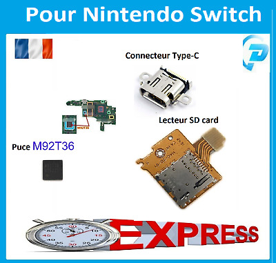 Carte SD/Connecteur de charge Type C/ Puce M92T36 Pour Nintendo Switch