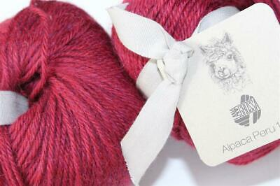Fb 122 orange 50 g Wolle Kreativ Lana Grossa Alpaca Peru 100