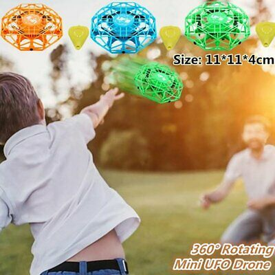 Mini Drones 360° Rotating Aircraft Smart UFO Helicopter for Kids Flying Toys