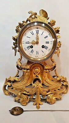 Fine Quality French Gilt Bronze Ormolu Clock for restore