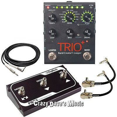 Digitech TRIO+ Plus Band Creator and Looper with FS3X Footswitch and Cables