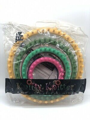 New Knifty Knitter A New Experience In Knitting 6 Piece Loom Set