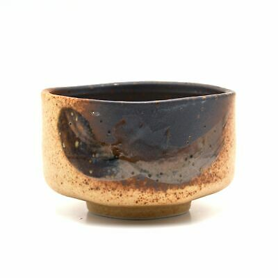 Japanese Traditional Handcrafted Ishi Stone Brown Matcha Tea Bowl