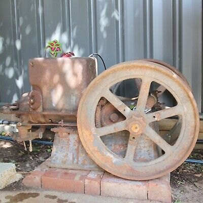 "Antique Farm Oil Engine  ""The Rosebery Oil Engine""..garden decoration."