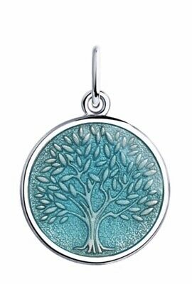 Silver pendant with enamel, tree of love