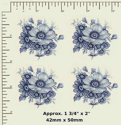 CERAMIC DECALS. Waterslide. BLUE DELFT.  Multiple variations. Decoupage R32