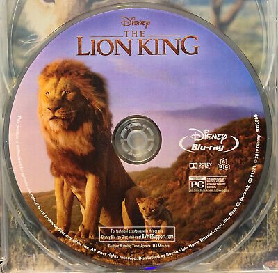Lion King - Live Action (Blu-ray, 2019)