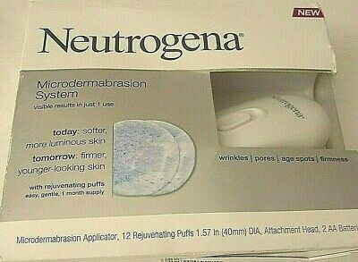 Neutrogena Microdermabrasion Kit: Applicator +30 Puff Disks Discontinued Rare !