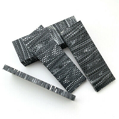 1 Pair Honeycomb Texture DIY Resin Patch Hand Grips Slabs For Grips/Slingshots