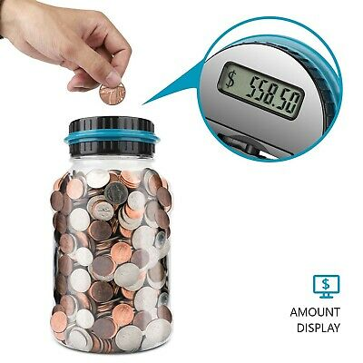 Enormous Piggy Bank Big Coin Jar Set Money Jug Counter Adult Digital Holder Lcd