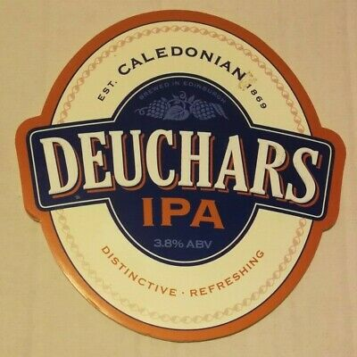 Beer Pump Clip Badge Plastic Caledonian 6 Nations Rugby PB205
