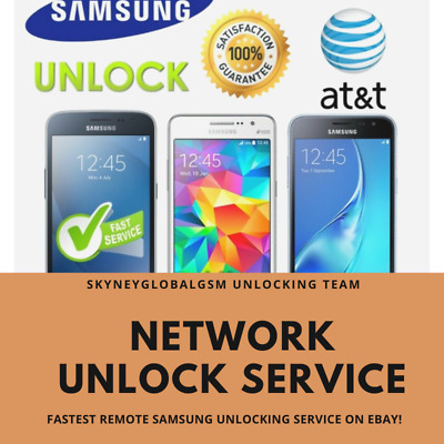 FAST NETWORK UNLOCK CODE SERVICE for SAMSUNG AT&T S7 S8 S9 S9+ S10 S10e