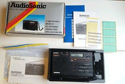 AUDIOSONIC TKS-326 PLL Synthesized Portable Receiver 4 band RARE VINTAGE