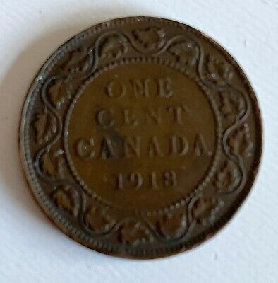 1918 Canada One Cent Coin - Circulated