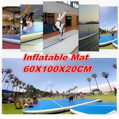 Inflatable Airtrack Air Track Floor Home Gymnastics Tumbling Mat GYM 60x100x20cm